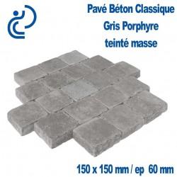 PAVE BETON CLASSIQUE 15X15 gris porphyre