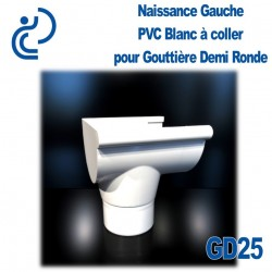 NAISSANCE GAUCHE A COLLER EN PVC BLANC POUR GD25
