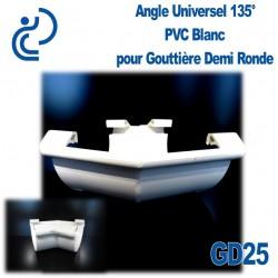 ANGLE UNIVERSEL 135° EN PVC BLANC POUR GD25