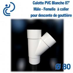 CULOTTE GOUTTIERE PVC BLANC 45° mâle femelle
