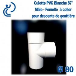 CULOTTE GOUTTIERE PVC BLANC 87° mâle femelle
