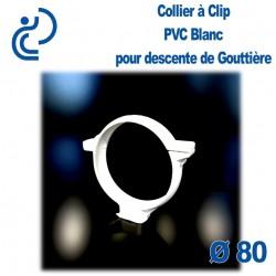 COLLIER DE GOUTTIERE PVC BLANC D80