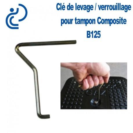 Clé de Levage / Verrouillage Simple pour Tampon Hydraulique Composite B125