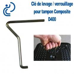 Clé de Levage / Verrouillage Simple pour Tampon Hydraulique Composite D400