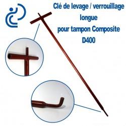 Clé de Levage / Verrouillage Longue pour Tampon Hydraulique Composite D400