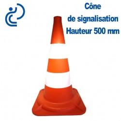 CONE DE SIGNALISATION Hauteur 500