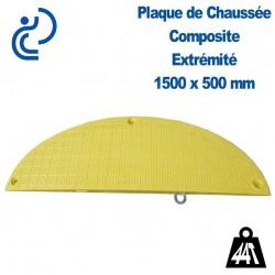 Plaque de Chaussée (passe tranchée) 1500x500mm Éxtrémitée demi ronde
