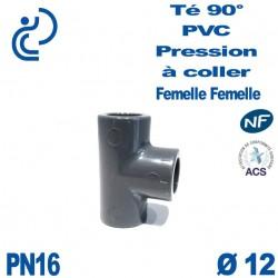 Té ( culotte ) 90° PVC Pression D12 PN16 à coller