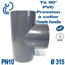 Té 90° PVC Pression D315 PN10 à coller
