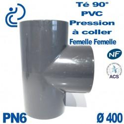 Té 90° PVC Pression D400 PN6 à coller