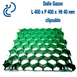 Dalle Gazon Clipsable 400x400mm prête à engazonner