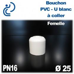 Bouchon Pression en PVC-U blanc à coller PN16 D25