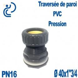 """Traversée de Paroi PVC pression D40 x 1""""3/4"""
