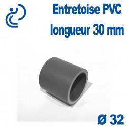Entretoise PVC longueur 30mm Diamètre 32