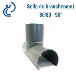Selle de Branchement 80x80 à 90° PVC à coller