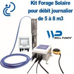 """Kit Pompe Forage SOLAIRE 3"""" pour débit Journalier de 5 à 8 m3"""