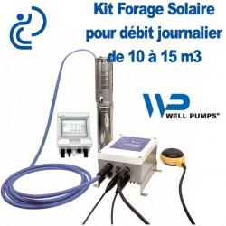 """Kit Pompe Forage SOLAIRE 3"""" pour débit Journalier de 10 à 15 m3"""