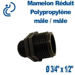 """MAMELON REDUIT PP 3/4""""X1/2"""" MM"""