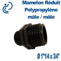 """Mamelon Réduit PP 1""""1/4 x 3/4"""" MM"""