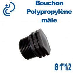 """Bouchon Polypropylène 1""""1/2 Mâle"""