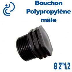 """Bouchon Polypropylène 2""""1/2 Mâle"""