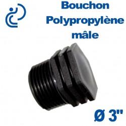"""Bouchon Polypropylène 3"""" Mâle"""
