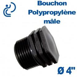 """Bouchon Polypropylène 4"""" Mâle"""