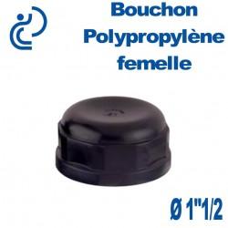 """Bouchon Polypropylène 1""""1/2 Femelle"""