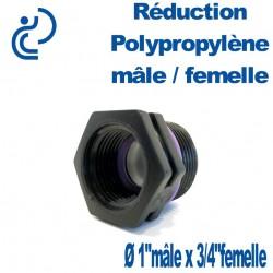 "Réduction Polypro 1"" Mâle x 3/4"" Femelle"