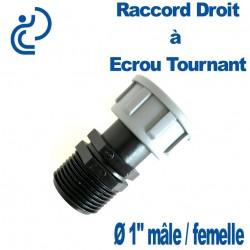 """RACCORD DROIT A ECROU TOURNANT 1"""" FM"""