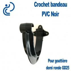 CROCHET BANDEAU PVC NOIR POUR GOUTTIERE GD25