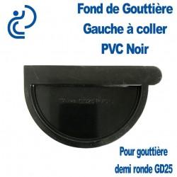 FOND DE GOUTTIERE GAUCHE EN PVC NOIR POUR GD25