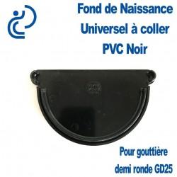 FOND DE NAISSANCE UNIVERSEL EN PVC NOIR POUR GD25