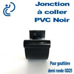 JONCTION PVC NOIR A COLLER POUR GOUTTIERE GD25