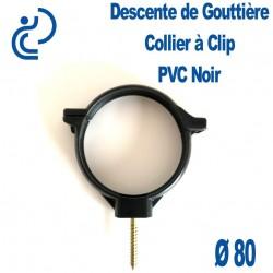 COLLIER DE GOUTTIERE PVC NOIR D80
