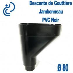 Jambonneau PVC noir D80
