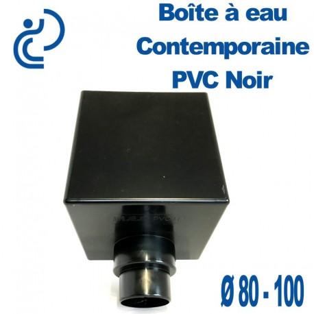 BOITE A EAU PVC CONTEMPORAINE NOIRE 80/100