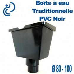 BOITE A EAU PVC UNIVERSELLE NOIRE 80/100