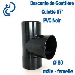 CULOTTE GOUTTIERE PVC NOIR 87° MF D80
