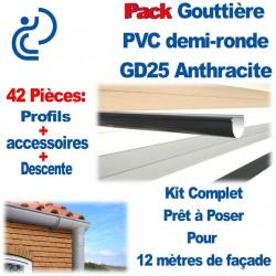 PACK GD25 ANTHRACITE POUR 12M DE FACADE (kit complet prêt à poser)