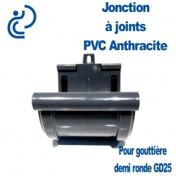 JONCTION PVC A JOINTS ANTHRACITE