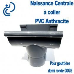 NAISSANCE CENTRALE A COLLER EN PVC ANTHRACITE POUR GD25
