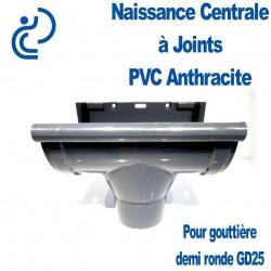 NAISSANCE CENTRALE A JOINTS EN PVC ANTHRACITE POUR GD25