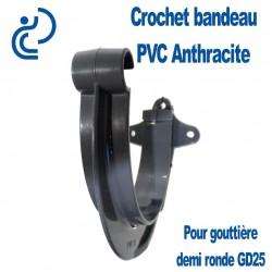 CROCHET BANDEAU PVC ANTHRACITE POUR GOUTTIERE GD25