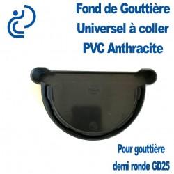FOND DE GOUTTIERE UNIVERSEL EN PVC ANTHRACITE POUR GD25
