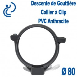 COLLIER DE GOUTTIERE PVC ANTHRACITE