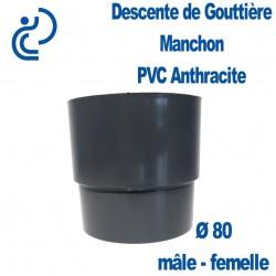 MANCHON GOUTTIERE PVC ANTHRACITE MF D80