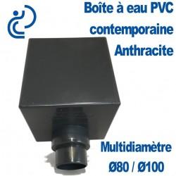BOITE A EAU PVC CONTEMPORAINE 80/100 anthracite