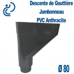 Jambonneau PVC anthracite d80