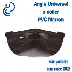 ANGLE UNIVERSEL EN PVC POUR GD25 MARRON
